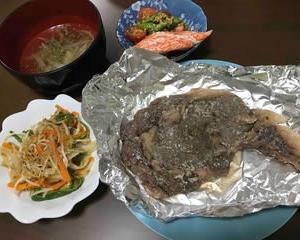 今日の晩ご飯(504):塩麹ステーキ