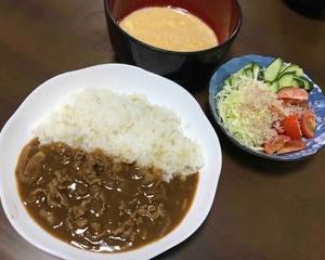 今日の晩ご飯(509):ハヤシライス
