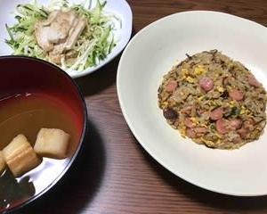 今日の晩ご飯(508):焼き飯