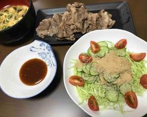 今日の晩ご飯(511):すきやき焼肉