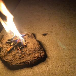 妻の初盆:迎え火を焚いていた時に