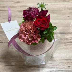 記念日とお花と。