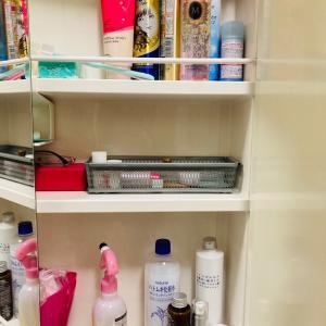 増えた美容グッズ&洗面所・鏡裏の収納