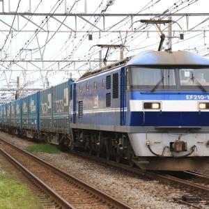 旅客線を行く貨物列車