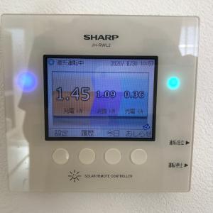 シャープの太陽光発電リモコンから電気の発電量・使用量データを取得する