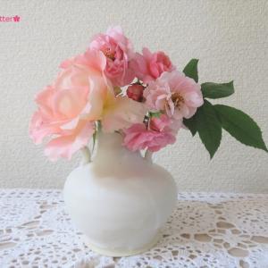 花入れ バラ  Vase, and Rose