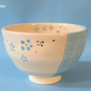 抹茶茶碗  小花シリーズ  Matcha tea bowl