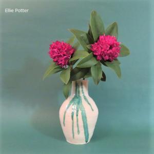 花入れ 石楠花 Vase, and Rhododendron