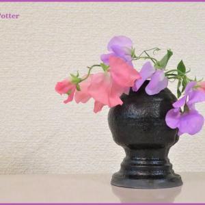 花入れ スイートピー Vase, and Sweetpea