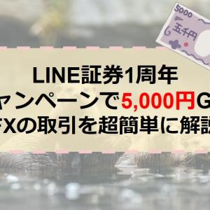 LINE証券1周年キャンペーンで5,000円GET【FXの取引を超簡単に解説】