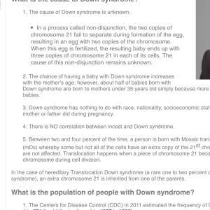 高齢出産とダウン症