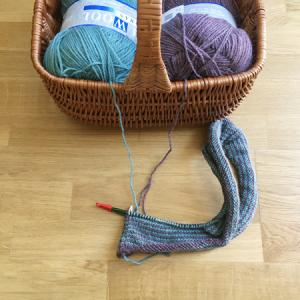 ブランケット、編み始めました ~Learn-to-Love-Steeks Blanket