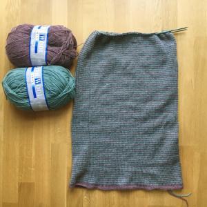 編めば確実に編地は増える ~Learn-to-Love-Steeks Blanket