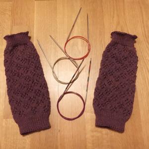 編み上がりました、そして伏せ止めについて ~Aibhilín