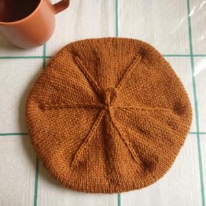 Knitting Groupが再開、そしてベレー帽を編みました