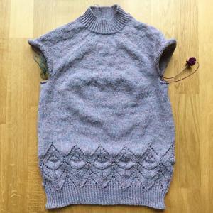裾のねじり目ゴム編みと伏せ止めで思ったこと ~Magnolia
