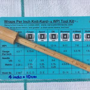 いまさらですが、毛糸の太さについて その2 ~WPI Tool Kit