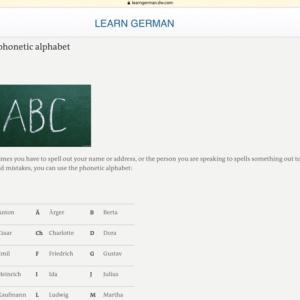 ドイツ語のフォネティックアルファベット Buchstabiertafel