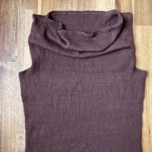 Cowl Shellが編み上がりました