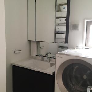2階洗面所のリネン庫収納♩