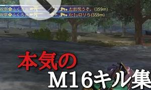 【荒野行動】本気のM16キル集 圧倒的ヘッド率(神曲)