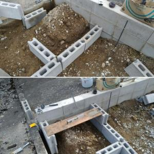 ブロックを使った階段作り①:段差の高さ合わせが最優先
