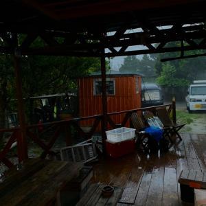 大雨でした。