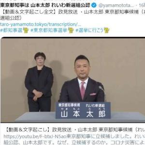 【手話】【都知事選挙】経歴放送に手話や字幕が付かないのは憲法違反ではないのか?
