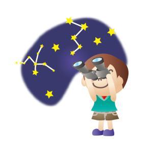"""スマホでお手軽天体観測, 夕刻の空に浮かぶ""""月と金星""""を撮影しました。"""