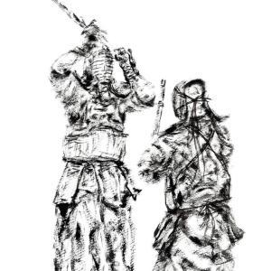 シルバーウィーク最終日も剣道の稽古, 先生に誘われて参加しました。