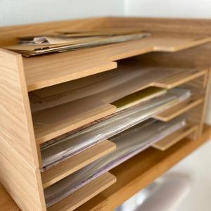 「無印良品」のMDF書類整理トレーで書類収納