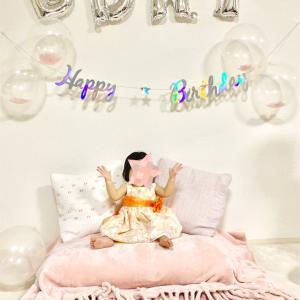 ダイソーで誕生日の飾り付け♪ 1歳のバースデー