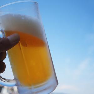午前10時、快晴、絶好のビール日和
