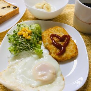 今日の朝食 6/14  パートに行ってきます!