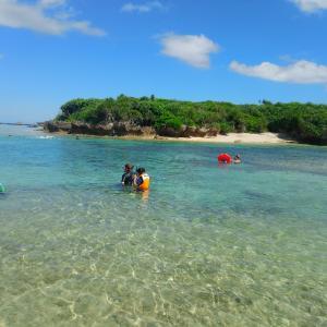 備瀬崎でお魚観察してきた。シュノーケル出来ない子供もオススメのビーチです。