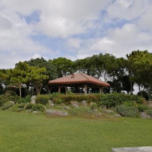 組踊公園に行ってきた。芝生が綺麗でピクニックに最適な公園。