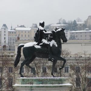リヨンでは雪