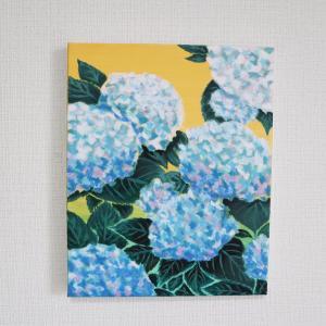 梅雨の紫陽花アート♡