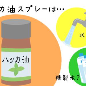 ハッカ油スプレーは水道水のみで作っても効果ある?