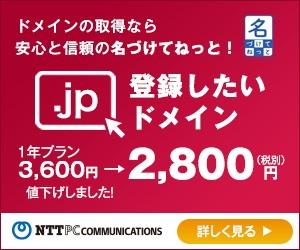 NTTPCコミュニケーションズが提供するドメイン登録サービス