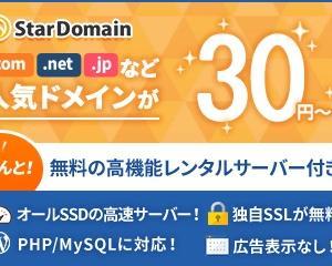 無料レンタルサーバー付き格安ドメイン取得サービス