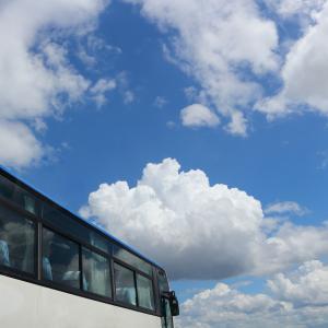 夏休み前、バスで一人で帰ってきました。