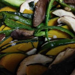 野菜と椎茸の重ね焼き