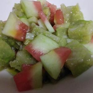 スイカ&アボカド寒天サラダで夏を涼しく!