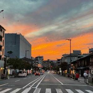 お彼岸中日。Kyoto sanjyo street.