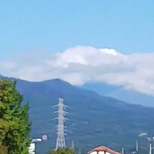 富士山「初冠雪取り消し後の初冠雪」