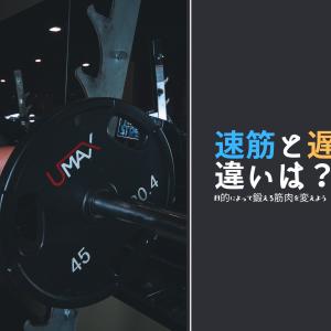 速筋と遅筋の違いについて【目的によって鍛える筋肉は変わります】