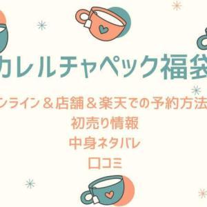 【2021】カレルチャペック福袋の店舗や楽天での予約方法!中身ネタバ...