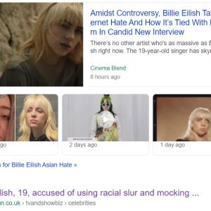 ビリー・アイリッシュのアジア人差別動画って?
