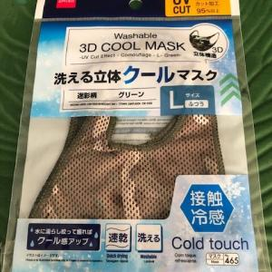 <100均ダイソー>洗える立体クールマスクでクールな息子